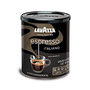 Lavazza Espresso Italiano Ground Coffee Blend, Medium Roast, 8-Ounce Cans,Pack of 4 (Packaging may vary)