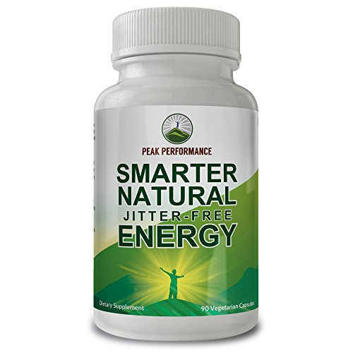 Smarter Natural Jitter-Free Energy by Peak Performance for Energy + Focus. Enhanced with Arabica Bean Caffeine + L-Theanine 90ct Pills/Capsules