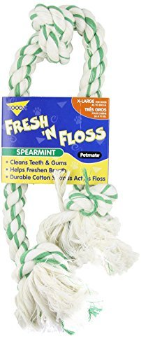 Rope 3 Booda Knot (Booda Fresh N Floss 3 Knot Tug Rope Dog Toy, X-Large, Spearmint by Booda)