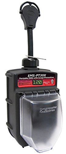 Portable RV Surge Protector Portable EMS-PT30X RV Surge Protector All Weather Housing
