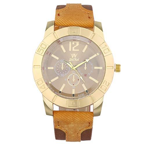 YEZIJIN Luxury Men Watch Business Large Dial Watch Fashion Quartz Silica Gel Belt Watch Under 10 Dollars