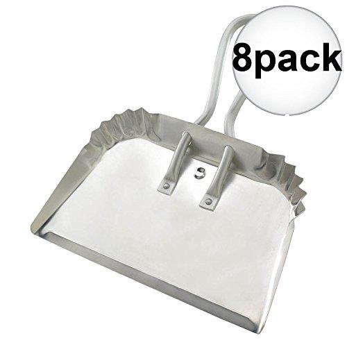 Guetle DP 17'' Extra Heavy Aluminum Duty Dust Pan 8-Pack by Guetle