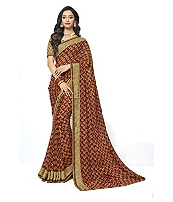 0cf762811c Laxmipati Jalebi Printed Georgette Saree (Multicolor) by Indians Boutique