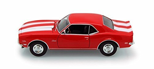 1968 Chevy Camaro Z/28, Red - Welly 22448 - 1/24 scale Diecast Model Toy Car