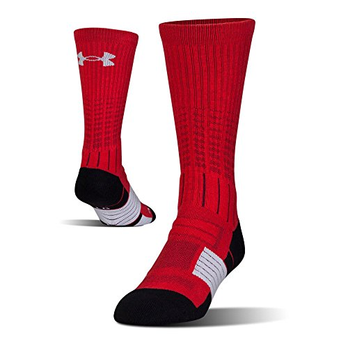 Under Armour Mens Under Armour Unrivaled Crew Single Pair, Red/White, - Socks Reds Cincinnati White