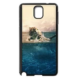 Samsung Galaxy Note 3 Cell Phone Case Black Tiger Running Blue Sea Nature VIU183814