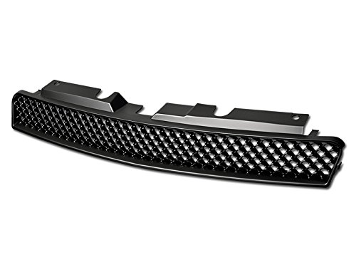 Velocity Concepts Matte Black Finished Front Grille Sport Mesh Hood Bumper Grill Cover Abs 2006-2016 for Chevy Impala/Monte Carlo