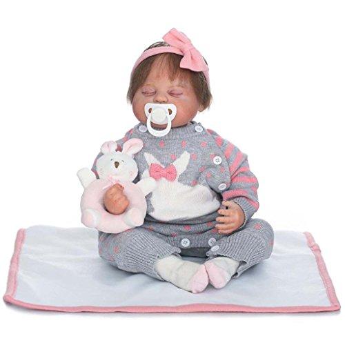 TERABITHIA 20 Zoll 50cm Alive Asleep Magnetische Mund Neugeborene Baby Puppen Schauen Sie Real mit Haar
