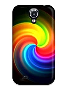Fashion JJbrwWe336NkSuG Case Cover For Galaxy S4(nice Rainbow Circle )
