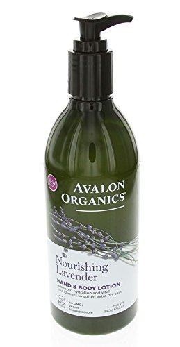 Avalon Organics Lavender Hand and Body Lotion, 12 Ounce Pack of 4