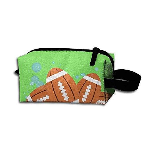 Makeup Cosmetic Bag Spain Football Pattern Zip Travel Portable Storage Pouch For Men Women by Huayaa