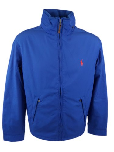 Polo Ralph Lauren Mens Perry Lined Winter Jacket (Large, Royal Blue)