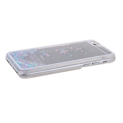"""Schutzhülle für iPhone 6 Plus, Nsstar® Hard Plastic Handyhülle Transparent Clear Cystal Case Glitter Flowing Bling Sterns und Sparkles Shinny Attraktiv Hart Hülle Etui Schale für iPhone 6 Plus 5.5"""" (P"""