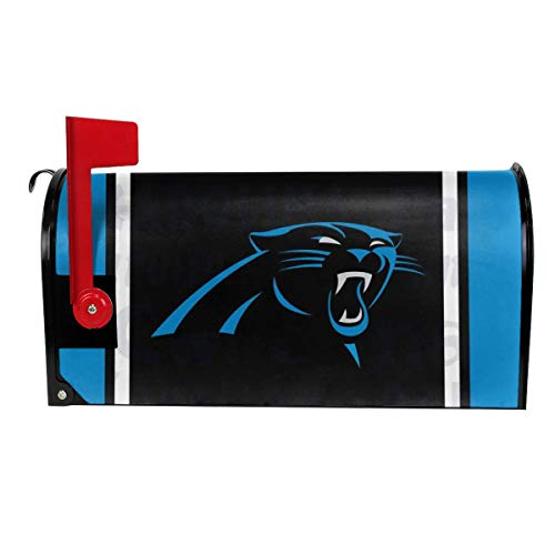 Gdcover Team Design Carolina Panthers Garden Magnetic Mailbox Cover for Outdoor Decor