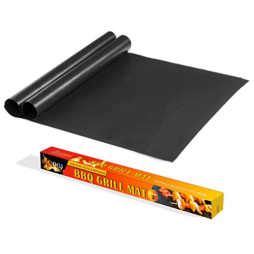 Imarku BBQ Grill & Baking Mats, Durable , Heat Resistant, Non-Stick Grilling Accessories ,Works on Gas, Charcoal, Electric Grill and more- 15.75 x 13