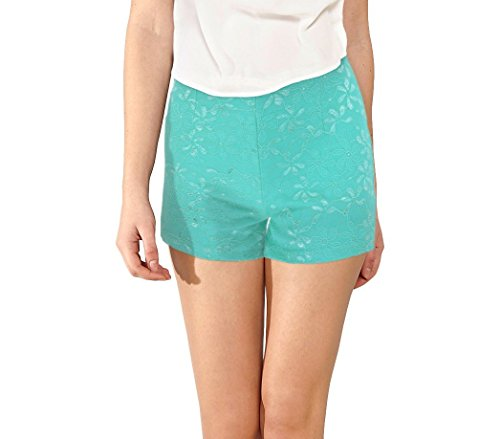 Elastico Mod Denise In Celeste Tessuto F9330 Media Shorts m Wave s Morbido Store Donna Pantaloncino Ricamato CqXwYX7