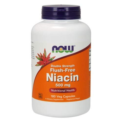 Flush-Free Niacin, 500mg, 180 Vcaps by Now Foods (Pack of 6)