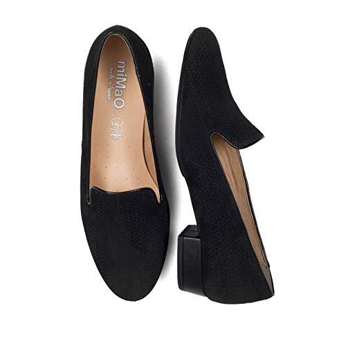 Zapatos Cómodo Plantilla En Calzado Gota Piel Hechos Con Confort España Mimao Mujer Negro Planos Gel Mujer Slippers vqvwrpT