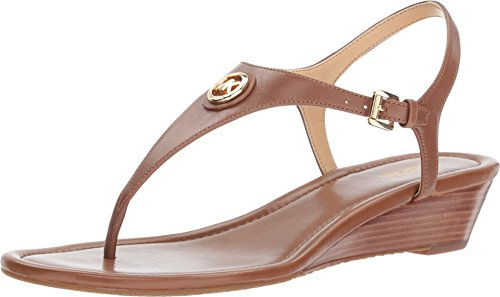 - Michael Michael Kors Womens Ramona Leather Open Toe Casual, Luggage, Size 7.0