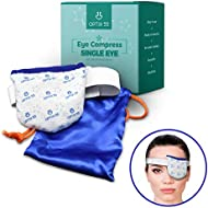 Single Moist Heat Eye Compress Pad - Microwavable, Eye Mask for Dry Eye   Good for Pink Eye, Blepharitis and Stye Treatment Relief   Ultra Absorbent, Washable and Reusable with Storage Pouch