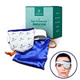 Single Eye Compress Heat Mask | Microwavable Pad for Soothing Therapy | Ultra Absorbent, Washable and Reusable | Treatment for Dry Eyes, Pink Eye, Puffiness, and Sties