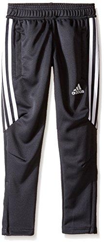adidas Youth Soccer Tiro 17 Pants, Medium - Dark Grey/White/White