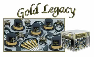 Beistle Gold Legacy New Year's Eve Party Assortment for 10