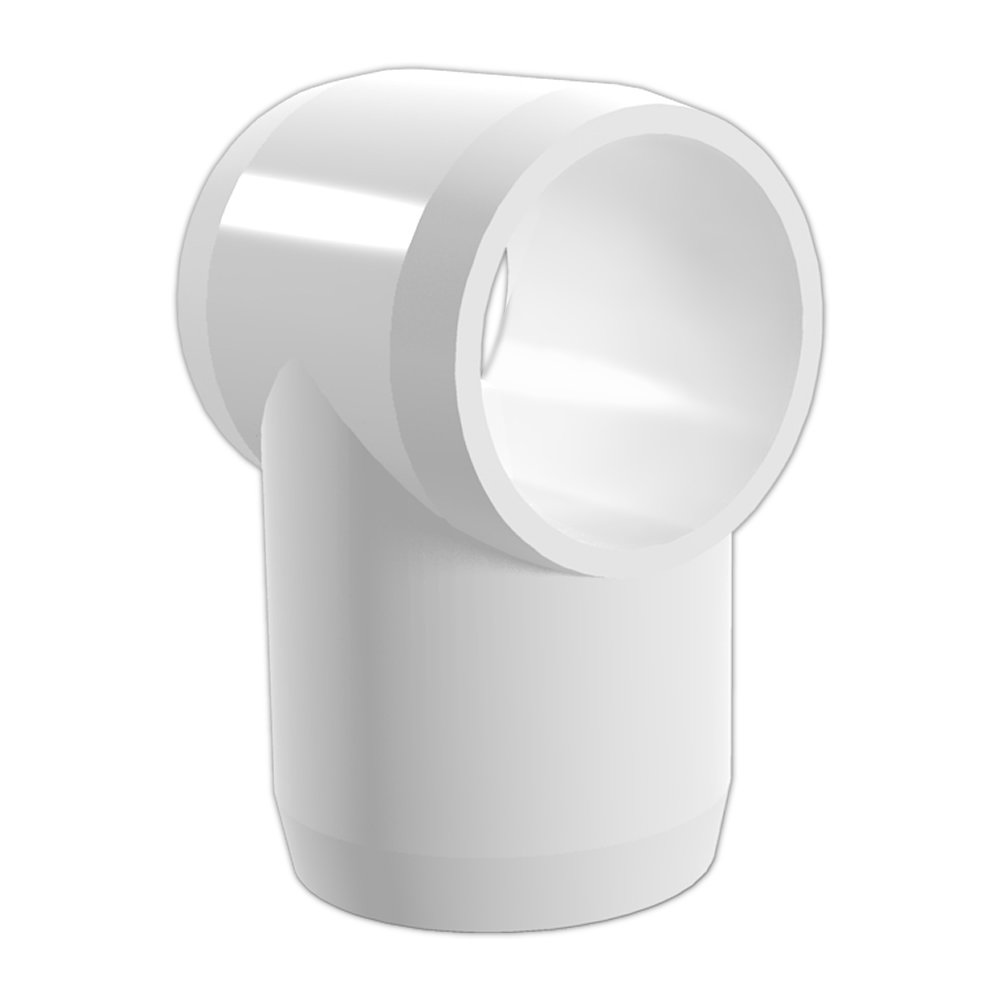 """FORMUFIT F034STE-WH-8 Slip Tee PVC Fitting, Furniture Grade, 3/4"""" Size, White (Pack of 8)"""