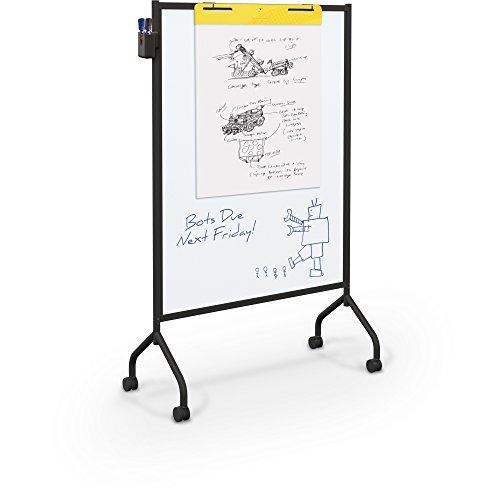 (Balt Essentials Double Sided Mobile Whiteboard Easel, Black Frame, 71.75
