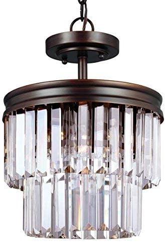 Sea Gull Lighting 7714002-710 Two 7714002-710-Two Light Flush Mount, Burnt Sienna