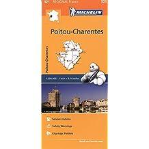 Michelin France: Poitou-Charentes Map 521