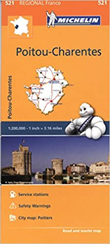 PoitouCharentes Michelin Regional Map 521 Michelin Regional Maps