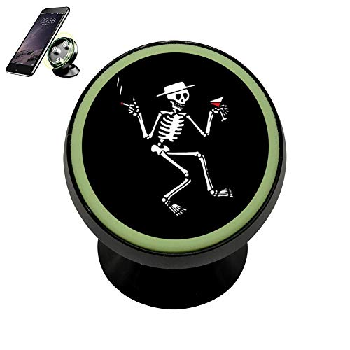 TuNan Punk Skeletons Walking Stick Dry Martini Cellpone Kits Cradle Stand Car Dashboard Disonnect with Luminous Holder Magnetic for All Kinds of Cell Phones