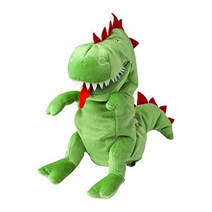 IKEA LASKIG Green Dragon Glove Puppet