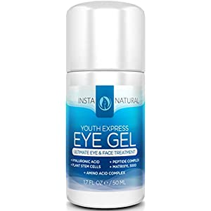 Eye Cream For Dark Circles, Puffiness, Wrinkles & Bags -HUGE 1.7 OZ- Best Under Eye Gel Treatment Solution For Eye Bags, Crows Feet, Dry Skin, Fine Lines & Sagging Eyes - With Plant Stem Cells, Hyaluronic Acid, Matrixyl 3000, Cucumber, Peptide Complex, Cucumber, Aloe, MSM & More