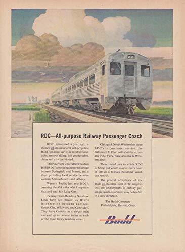 Budd RDC - The All-Purpose Railway Passenger Coach ad 1950 -