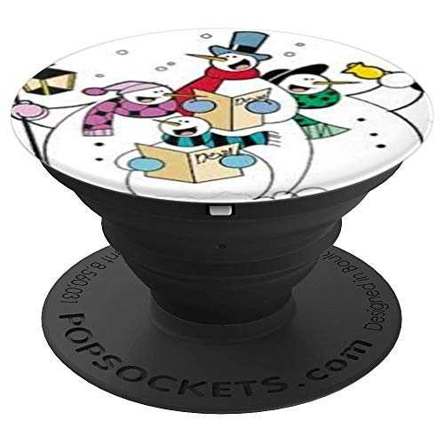 Caroling Snow (Snowman Caroling Snow Woman Caroling Snow Family Caroling - PopSockets Grip and Stand for Phones and Tablets)