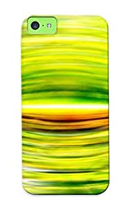 Iphone 5c Case - Tpu Case Protective For Iphone 5c- Green Curves Case For Thanksgiving's Gift