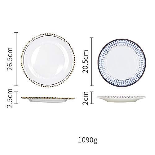 Beads Phnom Penh Glass Plate Western Dish Steak Plate Home Salad Plate Dish Plate