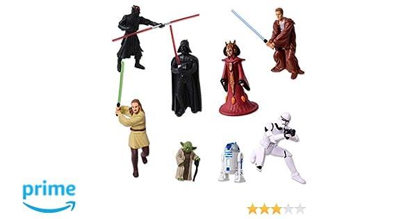 TE-Trend 8 Star Wars Llavero Figuras Darth Vader Yoda Stormtrooper R2D2 C-3PO