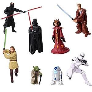 TE-Trend 8 Star Wars Llavero Figuras Darth Vader Yoda