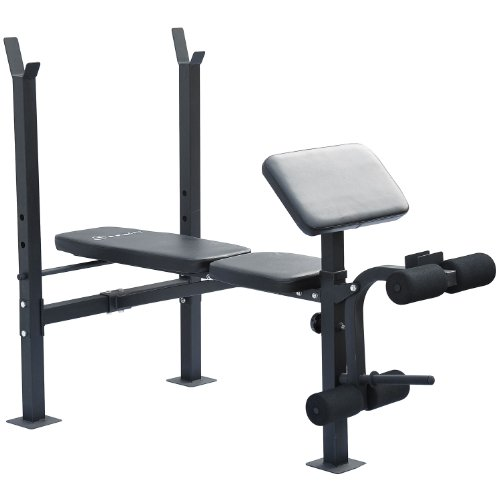 Free Weights On Bench: Soozier Incline / Flat Exercise Free Weight Bench W/ Curl