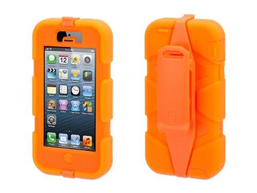 Griffin Survivor: iPhone 5, Fluoro Orange - Military-Duty Case w/Belt Clip for iPhone 5s (Case Protective 5c Iphone Orange)