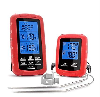 Termómetro para carne y barbacoa, termómetro para horno, termómetro para barbacoa, con pantalla LCD, para cocinar barbacoas, horno, carne, pavo o carne rojo