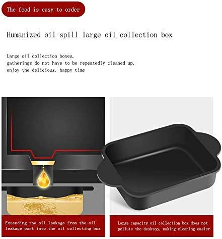 Barbecue électrique Hot Pot, Portable Grill électrique Barbecue d'intérieur 2-en-1 Super Pot avec plaque Grill, Convient for 2-3 personnes Dîner famille, Or SHIYUE