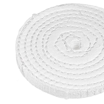 uxcell 8-Inch Buffing Polishing Pad Wheel Cotton for Manifold Aluminum Stainless Steel Chrome 2 Pcs: Home Improvement