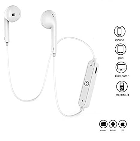 615fa9c0bc5 Bainsh In-Ear Sport Wireless Earphones with Mic for: Amazon.in: Electronics