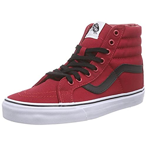 Vans Unisex Sk8-Hi Reissue (Canvas) Chili Pepper/Bla Skate Shoe 8.5 Men  US/10 Women US