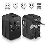Travel Adapter, Trvaadpta Universal All in One International Worldwide Wall Charger AC Power