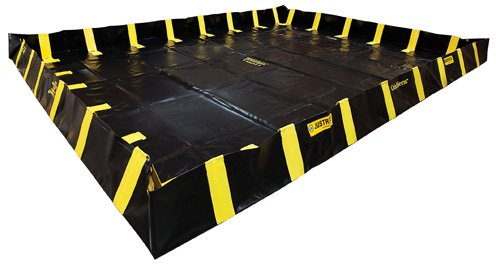 Justrite Manufacturing Company LLC 28548 - QuickBerm Collapsible Berm - Modified PVC coated fabric, Black, 144 in Wide, 240 in Long